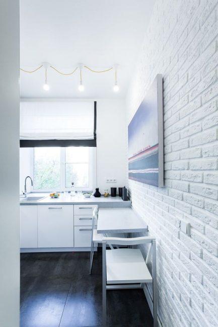 Beyaz duvarlar görsel olarak alanı arttırır.