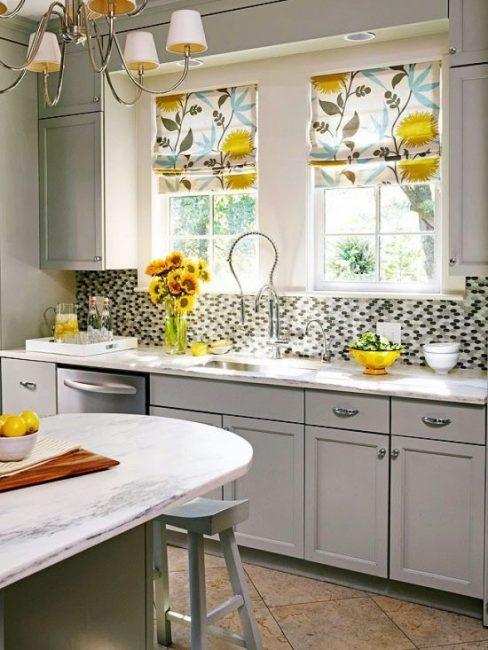 Mutfak perdeleri kolayca katlanabilir