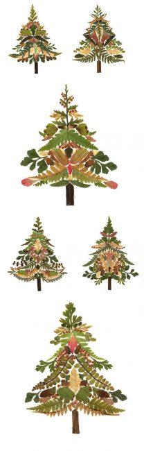Pokok Krismas yang indah yang boleh dilakukan secara berbeza dengan satu bahan
