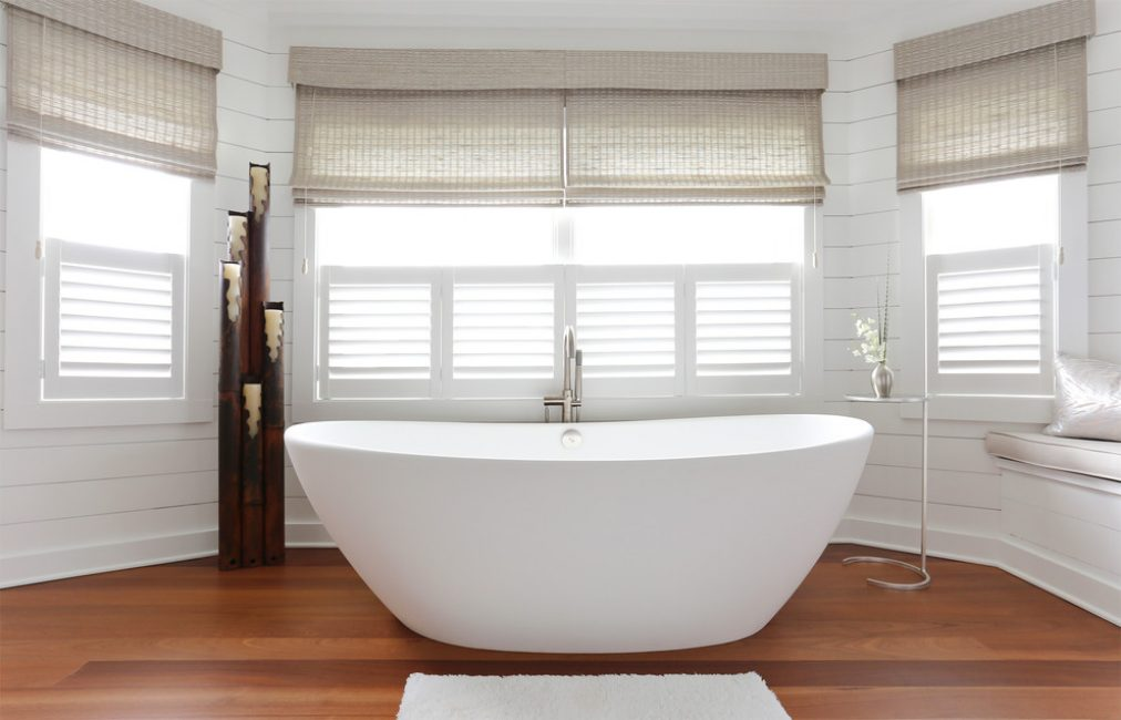 Interior bilik mandi yang santai mengingatkan gaya Cina