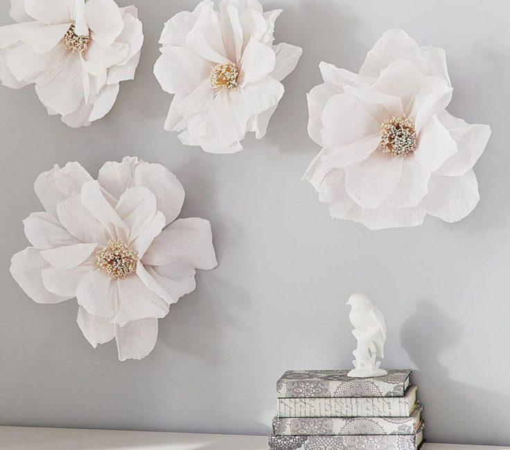 Dekor için beyaz çiçekler kümesi