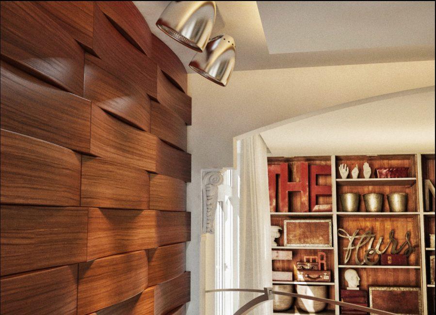 Odanın iç tarafında lamine paneller