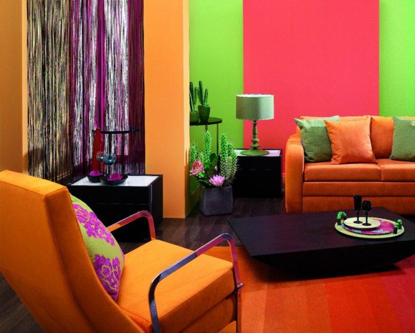 Duvar boyaları, yaratıcı fikirleriniz için alan sağlar.