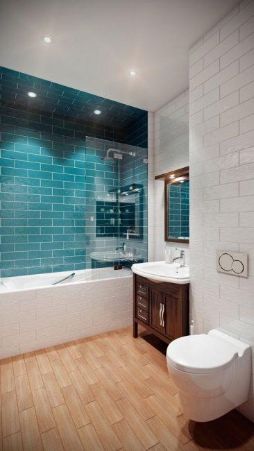 Banyo dekorasyonunda modern malzemeler