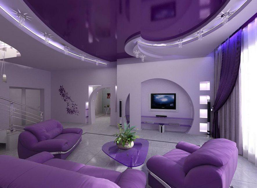 Susun rumah dalam persembahan cahaya yang mempesonakan