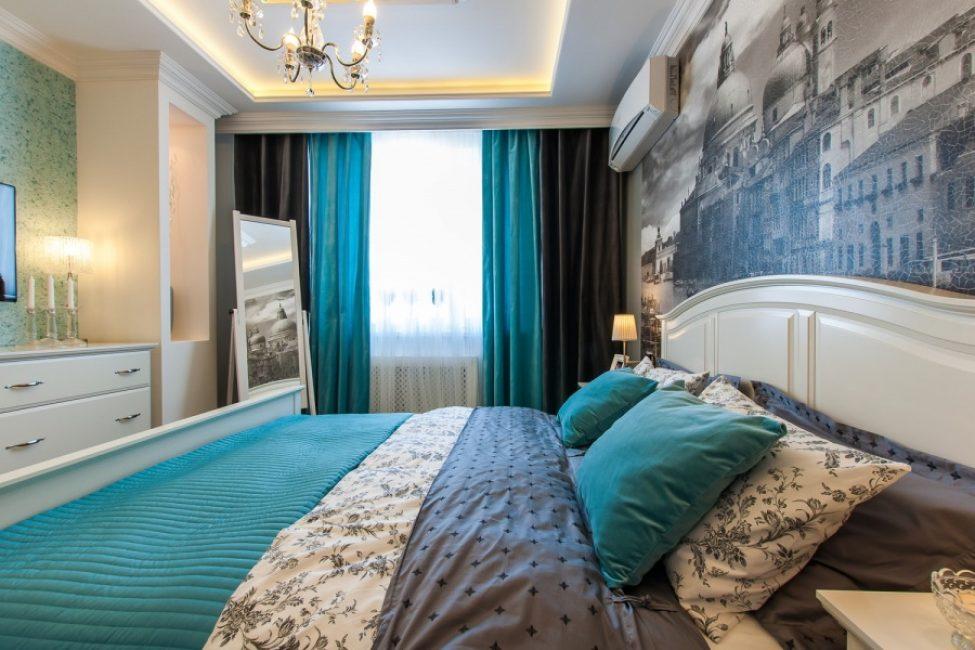 Bilik tidur yang ideal dengan warna matte