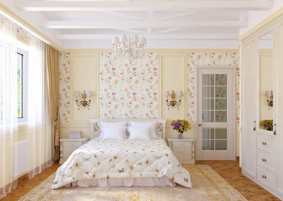 Provence için dekore duvarları dekorasyon yöntemi