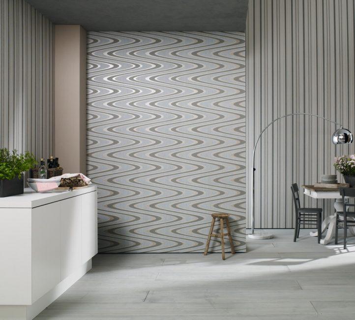 Duvar kağıdı duvarları görsel olarak mekanı değiştirecek