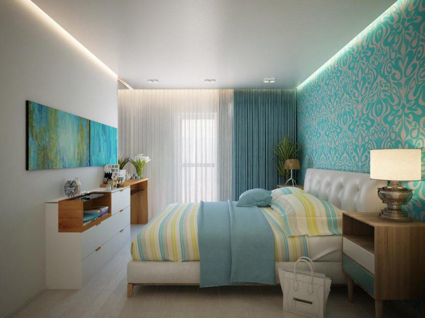 Yatak odasında sakin gama