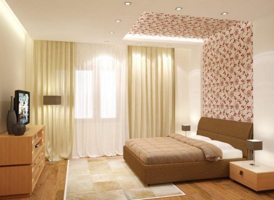 Gabungan sempurna warna telanjang di bilik tidur