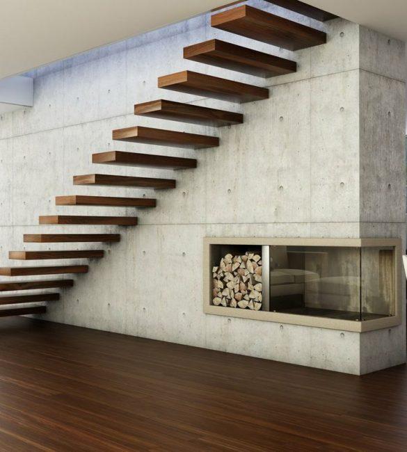 Jarak antara tangga membuat tangga mudah dilihat