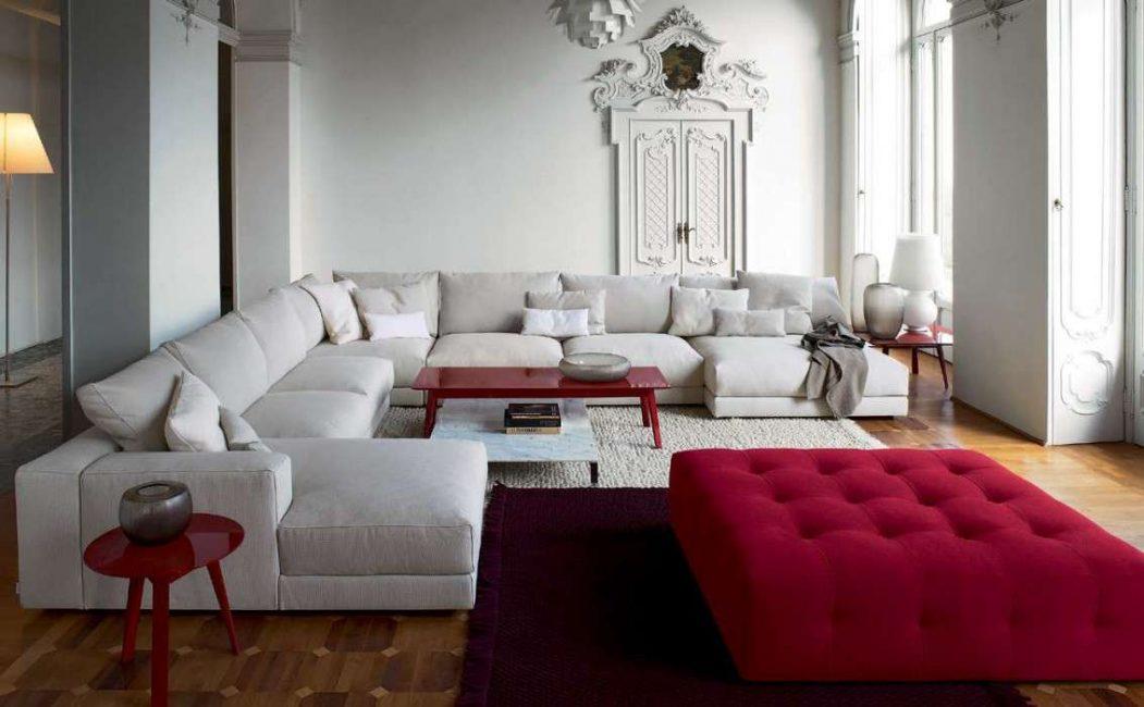 Sofa modular - penerimaan yang berjaya dan indah