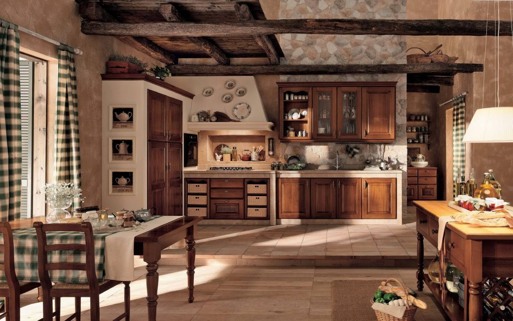 Çok geniş ve güzel mutfak