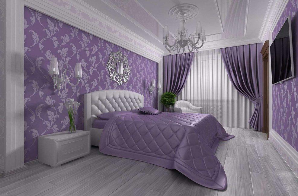 Warna Lilac, digariskan dalam satu tekstil nada