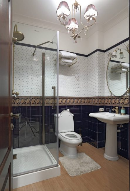 Di pedalaman gaya klasik bilik mandi