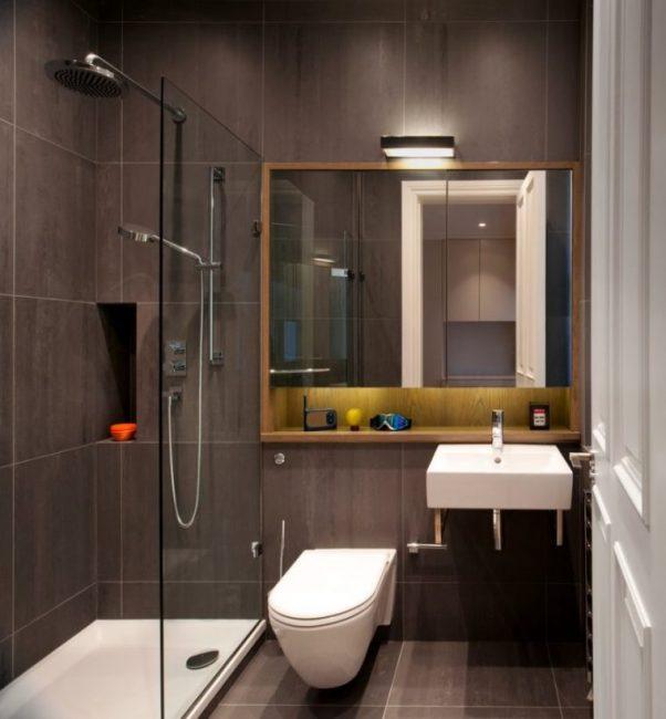 Bilik mandi kecil yang bergaya