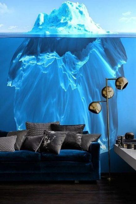 Keindahan lautan dengan aisberg