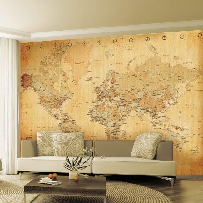 Pilihan yang menarik menggunakan peta dunia