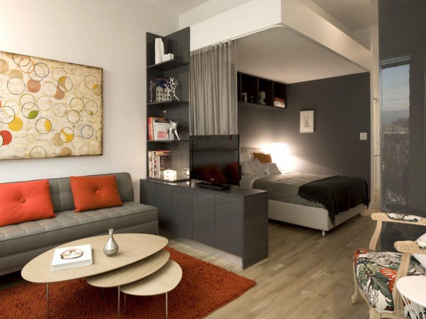 Perabotan yang selesa dalam satu bilik