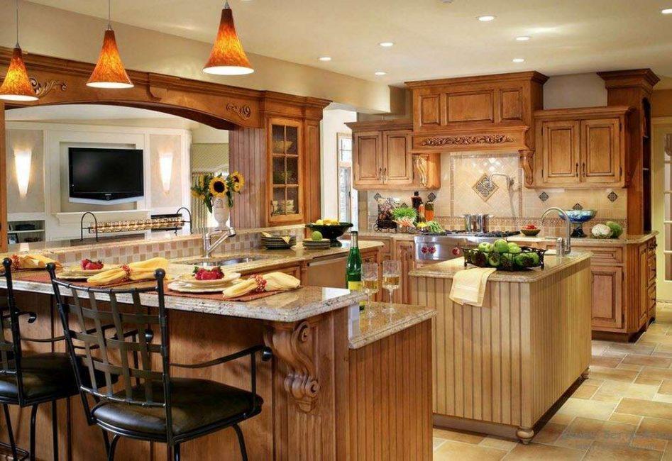 Mutfağın ana aksesuarı olarak bar tezgahı