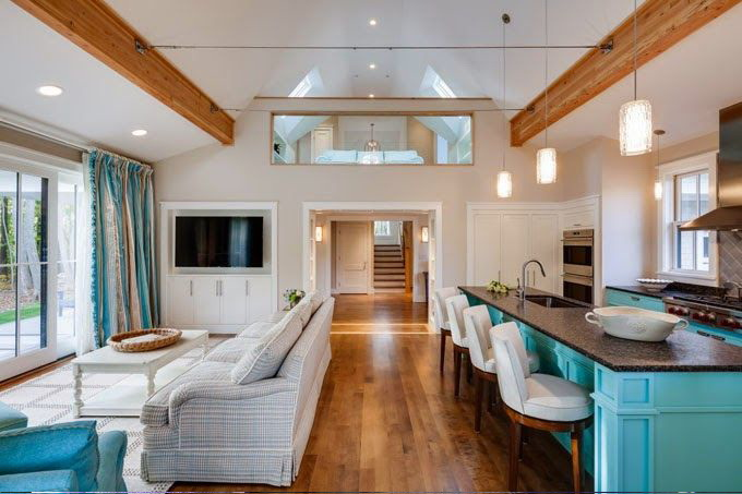 Mutfağın içi oturma odası ile birleştirilir (180+ Fotoğraf): Tasarım püf noktaları ve yerleşim sırları