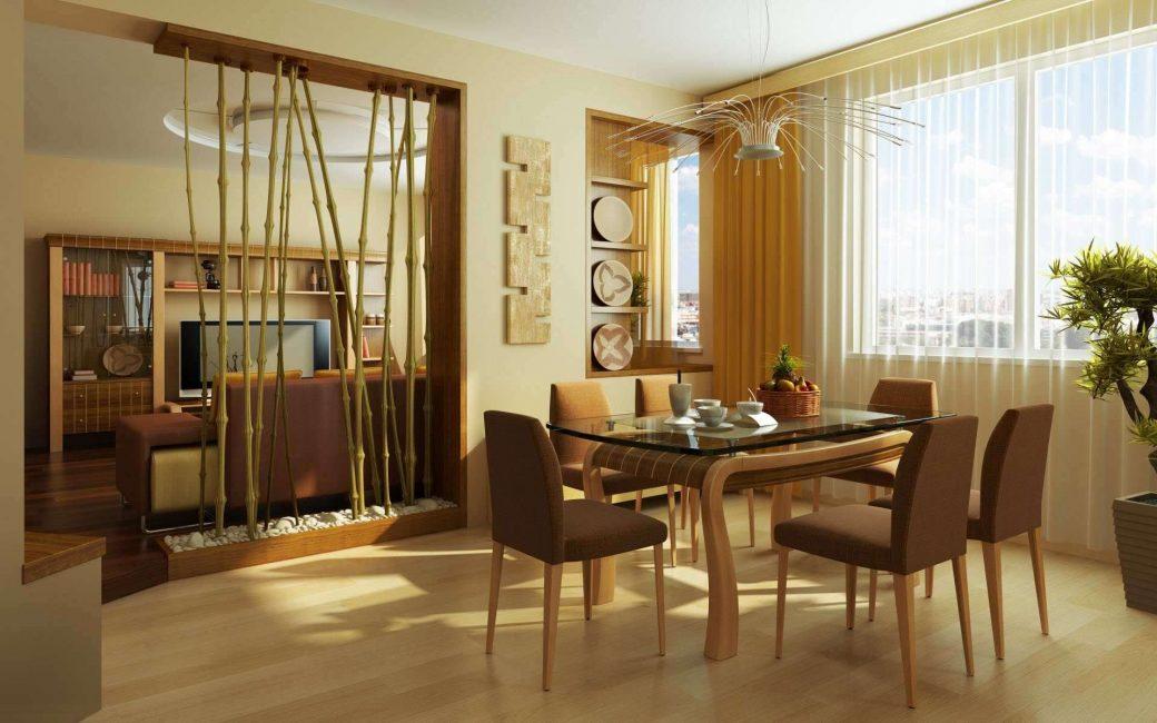 Bambu bu tarzın unsurlarından biridir.