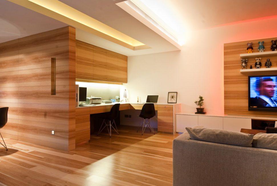 Aydınlık misafir odası tasarımı