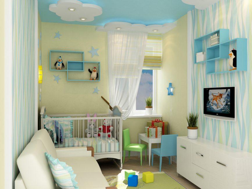 Bagi bayi yang baru lahir, lebih baik memilih warna yang tenang.