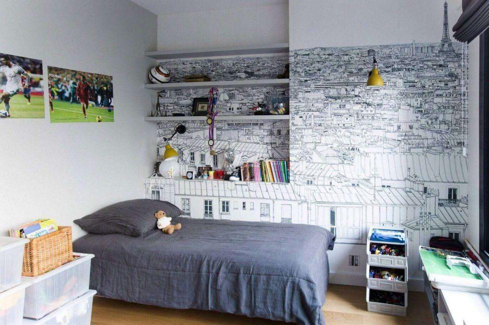 Kertas dinding pengezonan bilik