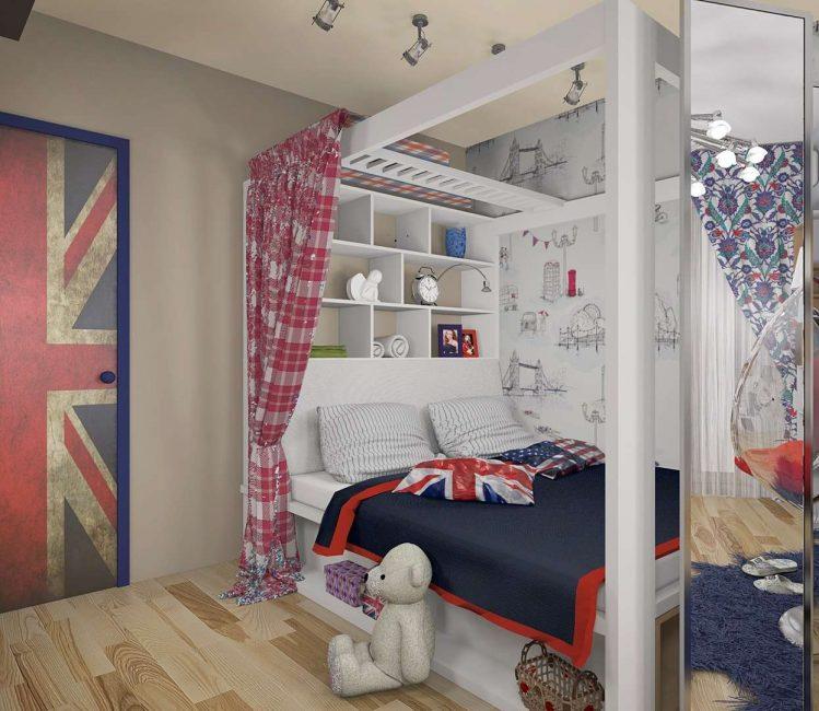 Sebuah bilik kecil lebih baik untuk tidak membebankan dengan banyak perabot