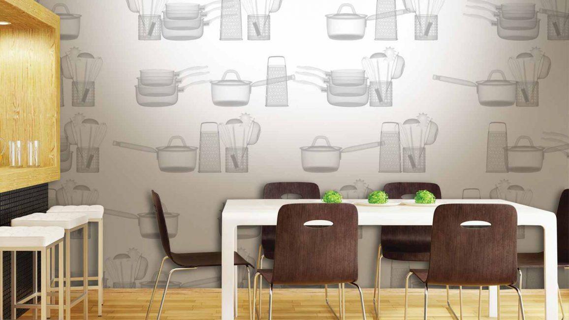 Vinil duvar kağıtları zamanla görünümünü kaybetmez.