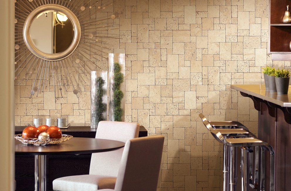 Duvara yapıştırılması kolay dokunmamış duvar kağıdı