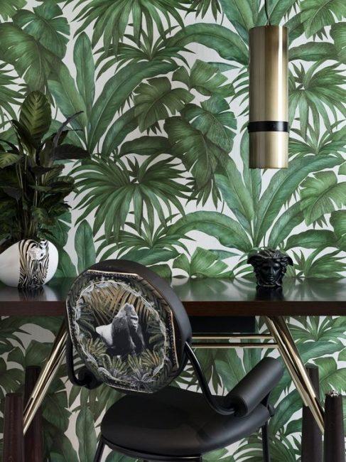 Oasis hijau kelihatan hebat di mana-mana bilik