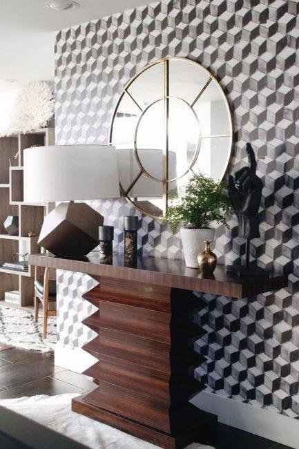 Bentuk geometri di dinding