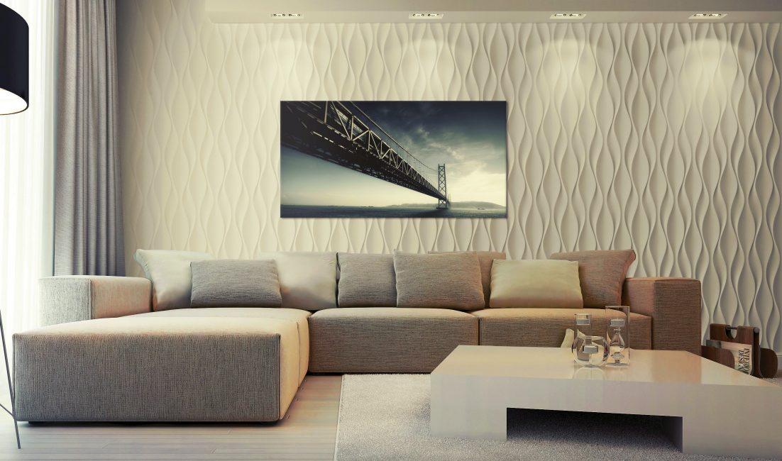 Loghat untuk dinding adalah gambar atau TV
