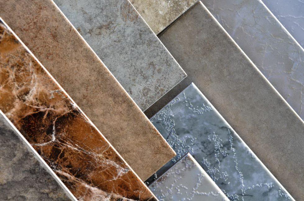 Berbagai warna bahan