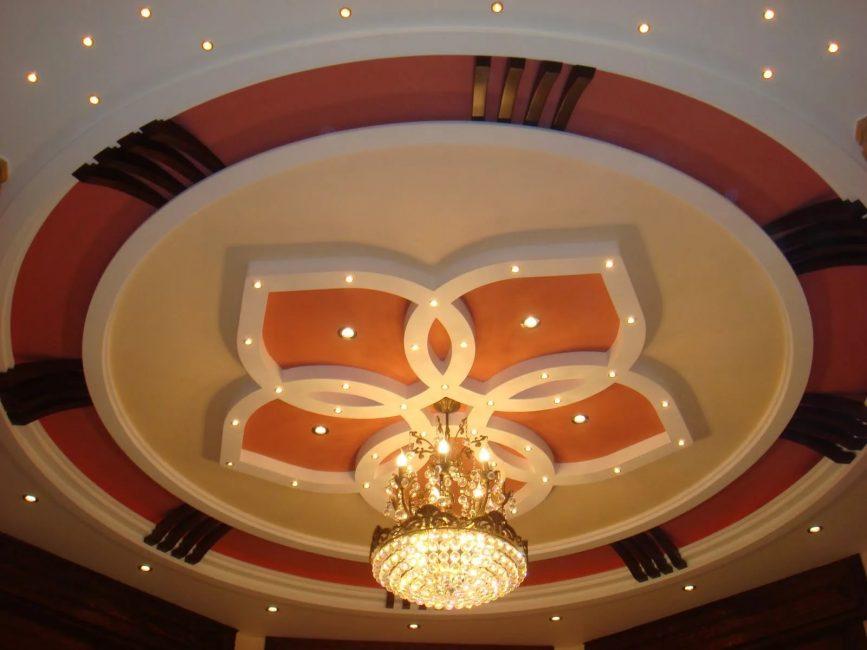 Alçıpanın tavanı birçok olumlu özelliğe sahiptir.