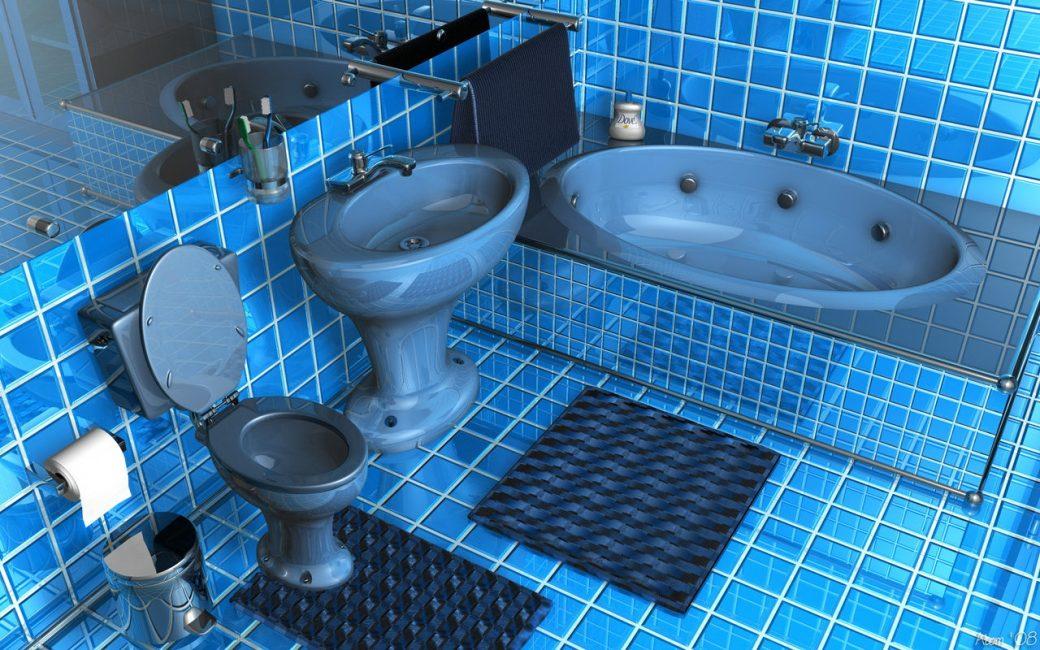 Blu brillante del design combinato