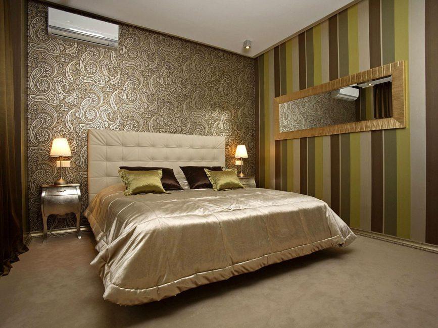 Büyük odalar için koyu renklerde bir süsleme kullanılması gerekir.