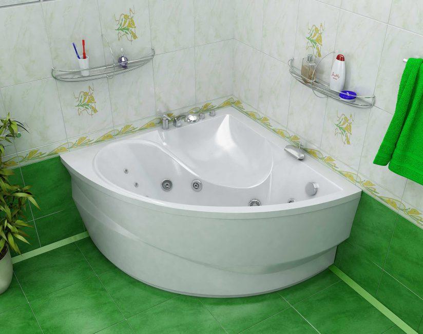 Bilik mandi yang kecil, tetapi begitu luas
