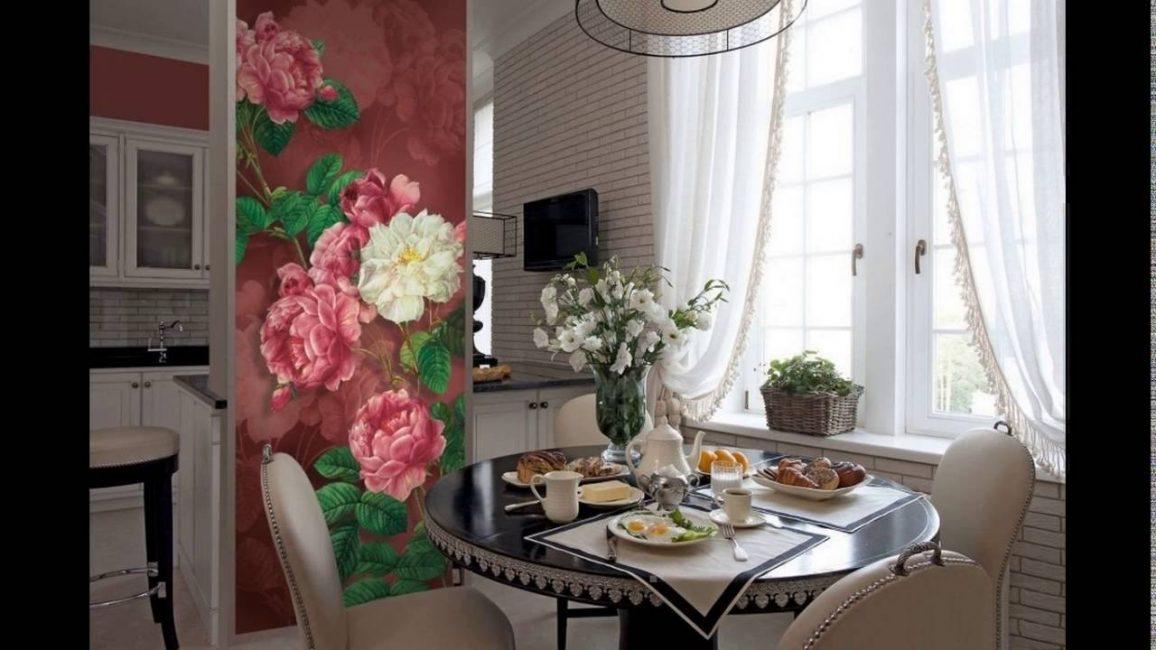 Bunga juga akan digabungkan dengan warna cahaya di dalam bilik.