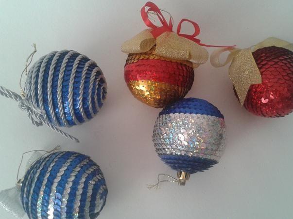 Şerit pul gelen Noel topları