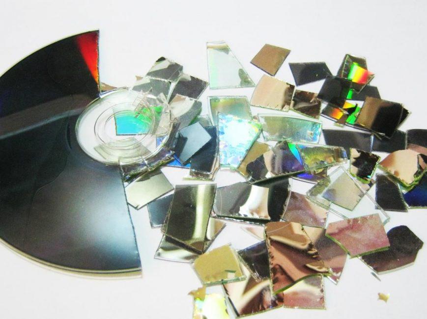 CD'yi parçalar halinde kesin