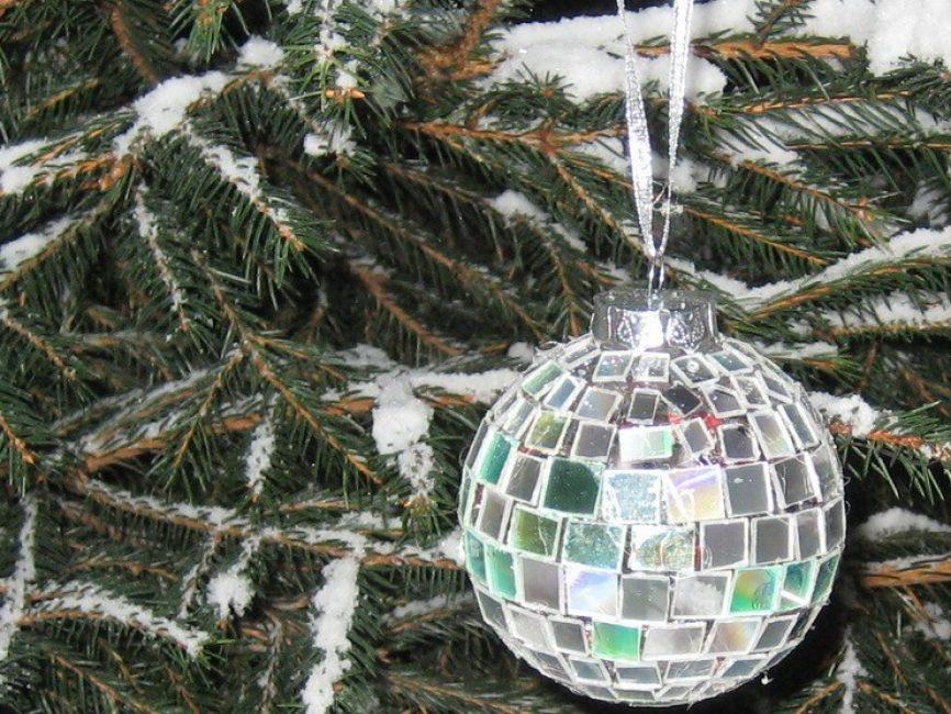 Bitmiş ürünü Noel ağacına asıyoruz