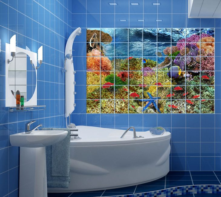 Banyo için 3D efekti