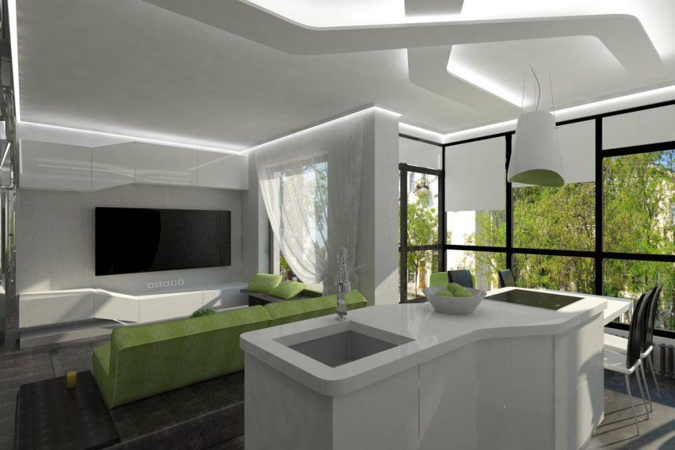 Pemasangan konsol ruang bebas dan membuat bilik lebih sejuk dan ringan.