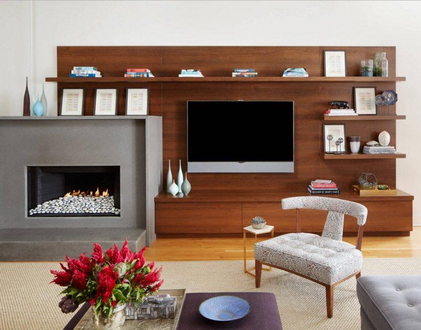 Panel kayu adalah elemen reka bentuk yang popular, sesuai untuk gaya yang berbeza.