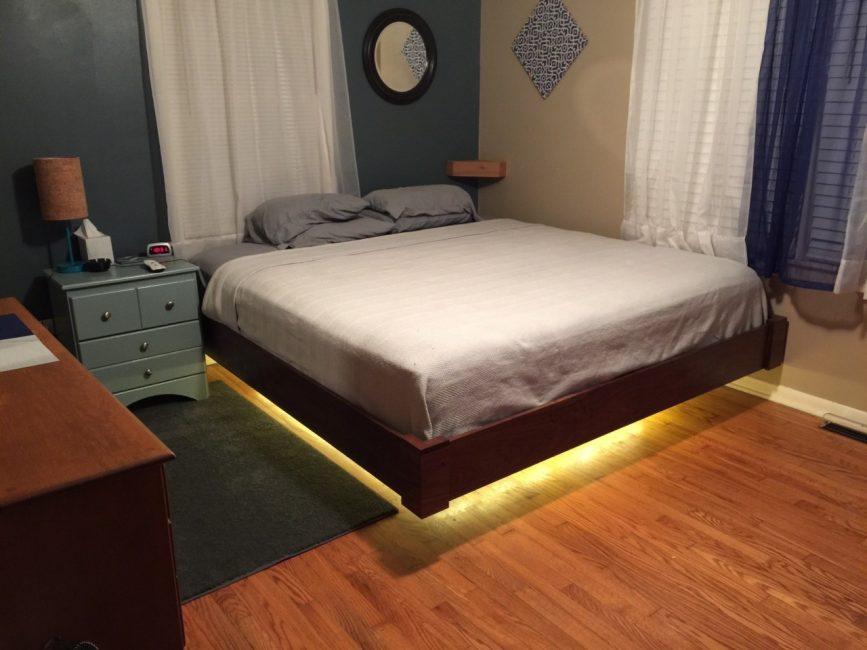 공간의 쾌적함을위한 침대 조명