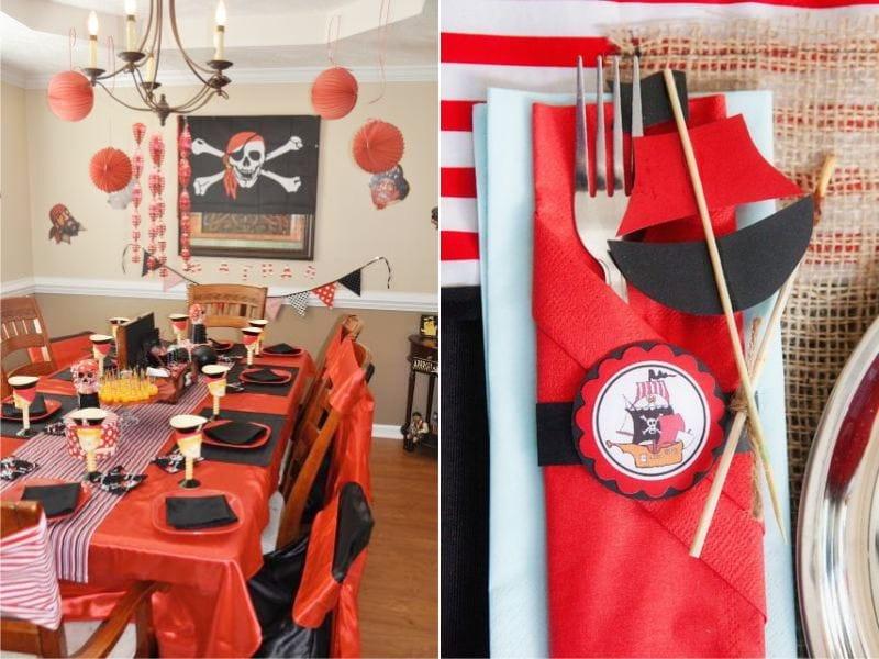 Percutian Pirate dalam warna merah dan hitam