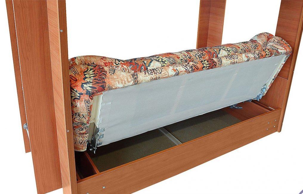 Buku Sofa dalam reka bentuk katil dua tingkat